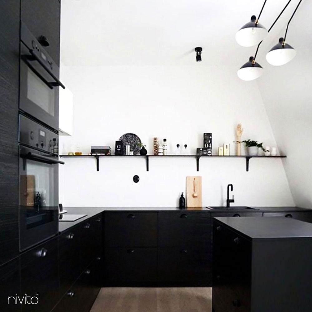 Svart Eldhús Krani - Nivito 13-RH-320