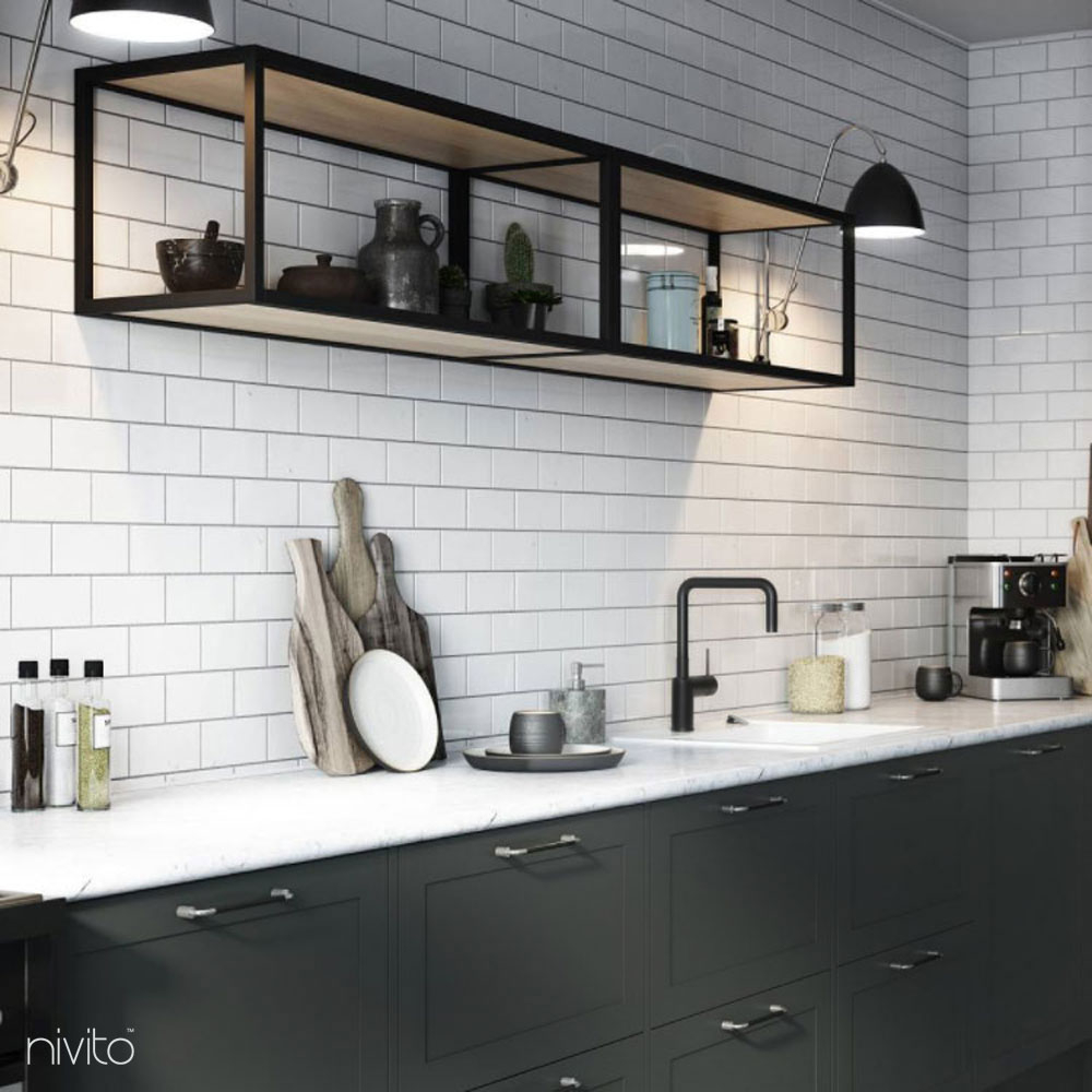 Svart Krani Blöndunartæki - Nivito 22-RH-320
