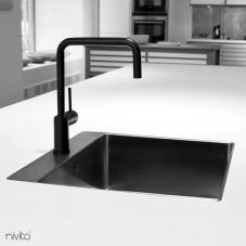 Svart Eldhús Blöndunartæki - Nivito 1-RH-320