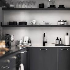 Svart Eldhús Blöndunartæki - Nivito 21-RH-320