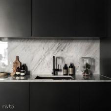 Svart Eldhús Blöndunartæki - Nivito 8-RH-320
